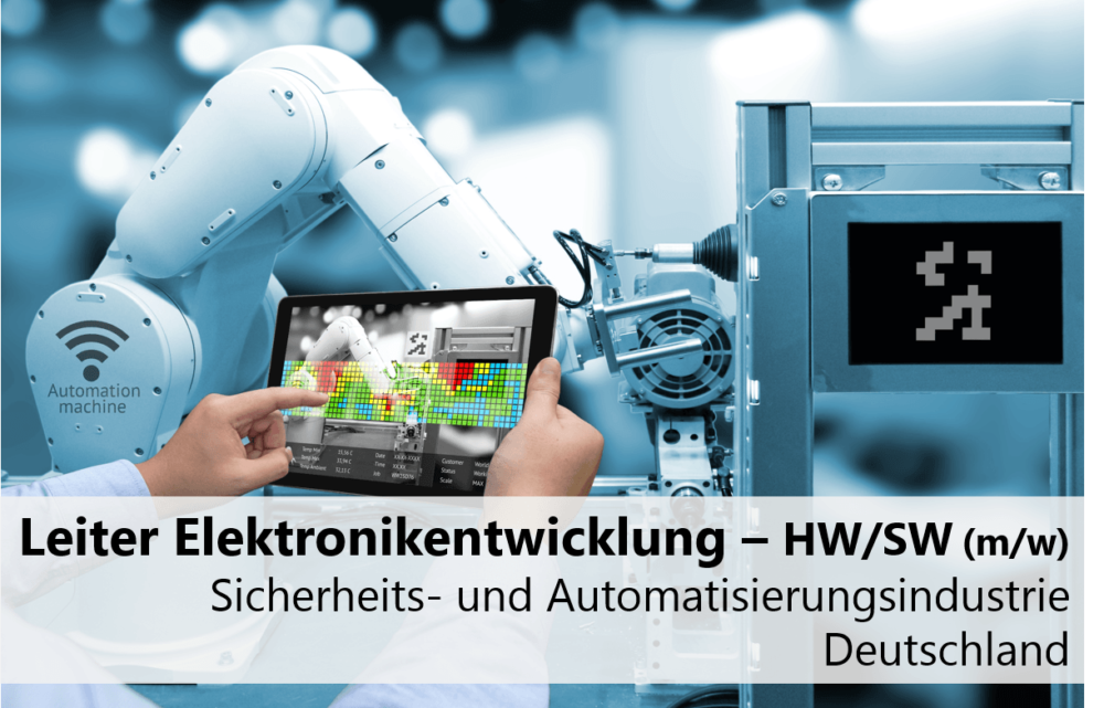 Leiter Elektronikentwicklung Hardware – Software